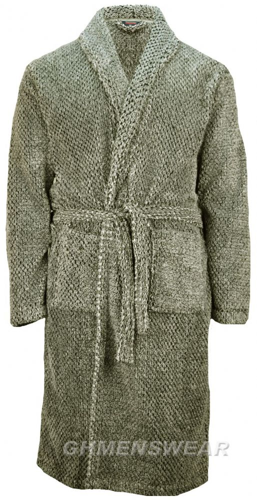 Espionage Soft Chunky Fleece Bathrobe / Dressing Gown